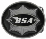 BSA Star / Black Officially Licensed Belt Buckle With Display Stand. Code DB4